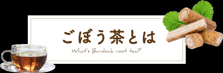 ごぼう茶とは What's Burdock root tea?
